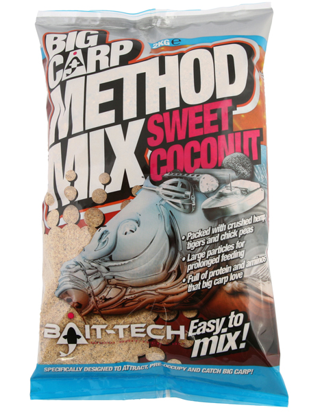 Bait Tech Big Carp Method Mix Sweet Coconut