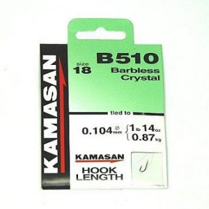 Kamasan B510 Barbless Crystal Hooks